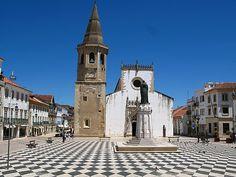 """""""calcadas"""" = the typical Portuguese cobblestone pavement in Tomar, Portugal"""