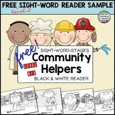 FREE Sight-Word Stages Level 2/B Community Helpers Reader #SWS