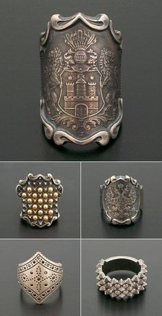 Trendy Japanese jeweler Mizuki Shinkai, cast, etched rings