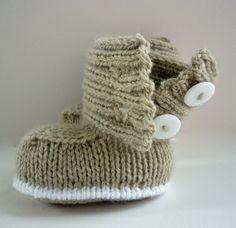 Knitting Pattern Baby Boots pdf JADEN Immediate by LoveFibres