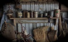 Primitive old dry worn wood farm shelf at SLHPRIMITIVES. Sweet Liberty Homestead new store!