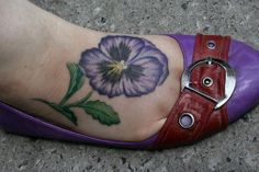 Pansy Tattoo - idea for Mom