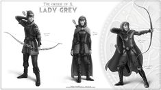 The Order of X – Lady Grey – Nate Hallinan – Concept Artist (Medieval X-Men)