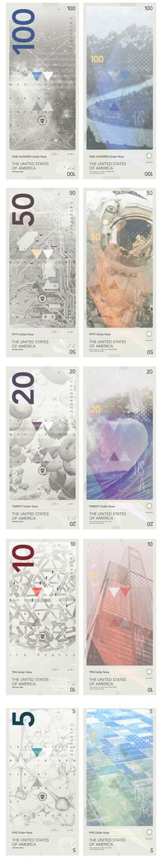 If American dollars were redesigned with a modern twist.