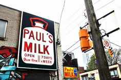 One of Toronto's many brilliantly-named Convenience Stores - Paul's MILK (by tyrone warner, via Flickr)