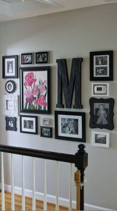 hallway decor, home decor, diy, letter decor, large letter, picture frames, organize, stairs, living room wall art, wall art, kitchen, bedroom, hallway, living room, dining room, diy decor, home, flowers, picture frame, signs, diy sign, modern, rustic, farmhouse #afflink