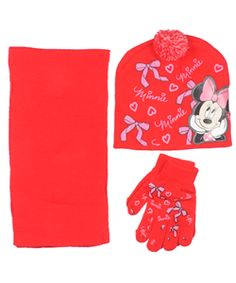 """Minnie Mouse """"Bow Flurry"""" Winter Accessories Set (Toddler One Size)"""