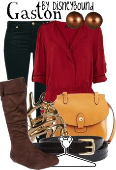 """Gaston"" by lalakay ❤ liked on Polyvore"