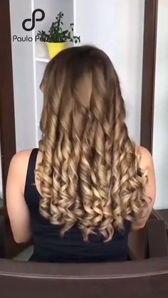 Curls For Long Hair, Easy Hairstyles For Long Hair, Up Hairstyles, Hair Up Styles, Medium Hair Styles, Hair Curling Tips, Hair Cutting Techniques, Easy Curls, Bridal Hair Buns