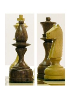 A beautifully handcrafted retro style Polish Staunton chess set. Solid wood, handcrafted and curvy. Feed your mind. E2012. Brought to you by ChessBaron.co.uk