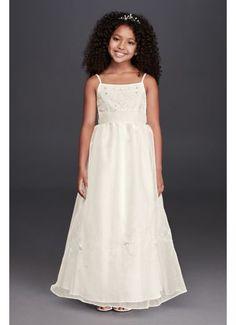 24b40e478c8 Oleg Cassini Spaghetti Strap Organza Ball Gown FG258 Bridal Gown Styles