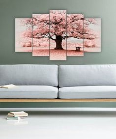 Love this Cherry Blossom Solitude Five-Panel Wall Art on #zulily! #zulilyfinds