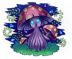 This little forest spirit is only seen on a full moon and when the forest is especially quiet.  #clipstudiopaint #illustration #childillustration #character #character_design #purplecolor #practicedrawing #digitalpainting #mushrooms #spirit #forestspirit #drawing #practice #paintingart Drawing Practice, Full Moon, Digital Illustration, Mushrooms, Character Design, Spirit, Illustrations, Drawings, Anime