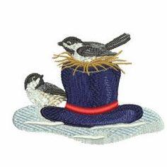 Winter Chickadee 02 machine embroidery designs