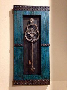 Key Wall Art ivory / skeleton key decor / wall decor / wall art / shabby chic