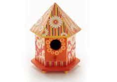 Fall Birdhouse #ModPodge #MichaelsStores
