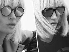 Kate Moss, star de la campagne Giorgio Armani Eyewear - Kate Moss Campaign Star Giorgio Armani Eyewear Kate Moss, Tim Walker, Giorgio Armani, Round Sunglasses, Sunglasses Women, Red Valentino, Portraits, Eyewear, Fashion