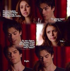 I really felt for him in this bit. He is inlove with Elena and suddenly she has been having happy dreams about his brother. That has got to suck