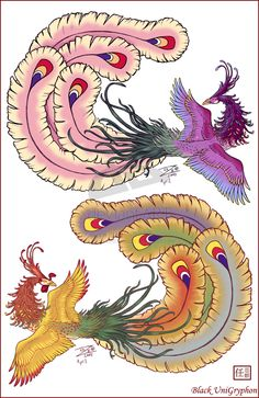 Feng Huang Chinese Phoenix by ~BlackUniGryphon on deviantART
