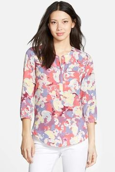 Things I Need To Buy, Printed Blouse, Floral Blouse, Fashion Essentials, Fashion Sewing, Nice Tops, Style Guides, Autumn Fashion, Nordstrom