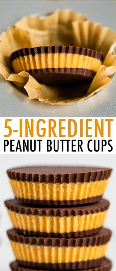 Make your own peanut butter cups using just 5 simple ingredients -- dark chocolate chips peanut butter coconut oil honey and sea salt. Coconut Peanut Butter, Chocolate Peanut Butter Cups, Melting Chocolate Chips, Dairy Free Chocolate, Peanut Butter Recipes, Natural Peanut Butter, Dark Chocolate Chips, Vegetarian Chocolate, Coconut Oil
