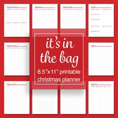 Christmas Planner Pack - Baking, Menu, Gifts, Budget, Activities, and Project Planner - Printable - Editable PDF - Letter Size by sassyplanners on Etsy Planner Pages, Printable Planner, Christmas Printables, Christmas Cards, Holiday Planner, Menu Planners, Project Planner, Binder Organization, Printed Pages