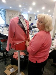 Yvonne smiled the entire weekend as she created a perfect dot-inspired Creative Sweatshirt Jacket from Londa's Worthy Talking pattern.