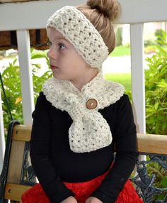 PATTERN Scarf & Headband Set Cross My Heart Crochet