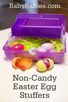 Non-Candy Easter Egg Ideas--Love the Caboodle. Great for kids play dress up stuff, leaf/rock collections, and storage of little toys like My Little Ponies and Littlest Petshop.