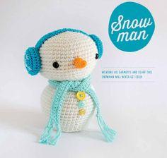 Снеговичок в наушниках из журнала Amigurumi Winter Wonderland. Перевод Кочеровой Елены.   [Ссылка...]  на описание.   Чтобы перейти к оп...