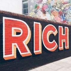 RICH by @gary_stranger.  by @theaboarddude | Typespire.com #typespire by typespire