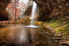 The Grotto on Seven Hollows Hiking Trail at Petit Jean State Park, Arkansas. Photos by Todd Sadowski.