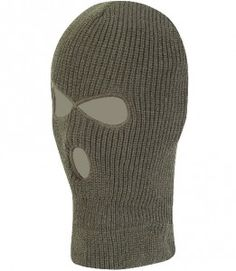 Mil-Com 3 Hole Balaclava Olive is ideal for outdoor activities airsoft, military exercises etc.