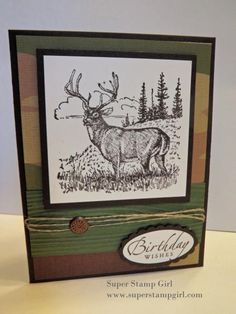 Noble Camo Deer by crykomara - Cards and Paper Crafts at Splitcoaststampers