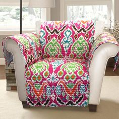 Ikat Bohemian Chair cover Brand New Lush Decor Ikat Chair cover. Ties underneath chair to give it a snug fit. Fits arm chairs NWOT Lush Decor Other Diy Furniture Covers, New Furniture, Armchair Protectors, Puff, Slipcovers For Chairs, Arm Chairs, Upholstered Chairs, Home Decor Shops, Sofa Covers
