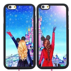 2pcs Best Friends Couple Cases for iPhone 4 4S 5 5S SE 5C 6 6S Plus Back Skin #UnbrandedGeneric