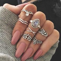 Persefone Boho Rings - 7 Pieces Set