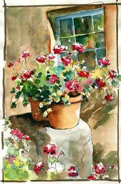Watercolor by Brenda Swenson