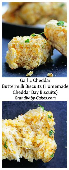The ULTIMATE Garlic Cheddar Buttermilk Biscuits that taste even BETTER than the FAMOUS CHEDDAR BAY BISCUITS | Grandbaby-Cakes.com