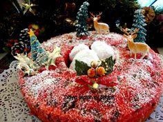 Σας περίσσεψαν μελομακαρονα; Φτιάξτε Κόκκινο κέικ με μελομακάρονα Greek Desserts, Greek Recipes, Dear Santa, Sweets, Christmas Ornaments, Holiday Decor, Food, Cakes, Kitchen
