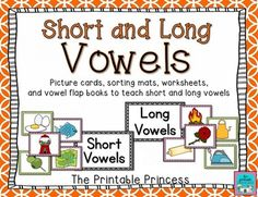 Great resource to teach and review short and long vowels. Over 70 pages. Vowels at the beginning and in the middle of the words. Includes worksheets, sorting mats, and flap books.