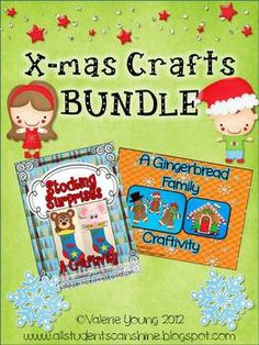 This pack contains 2 Christmas craftivities: Stocking Surprises & Gingerbread Family