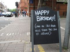 happy birthday sign