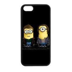 I can't take it! These are so great!  Supernatural Minion for iPhone 4 4S 5 5S 5C 6 6 Plus Case Cover TMS36003 #CustomTrimulShop