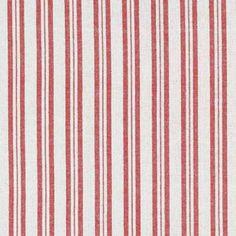 Red Ticking Stripe Fabric - 235
