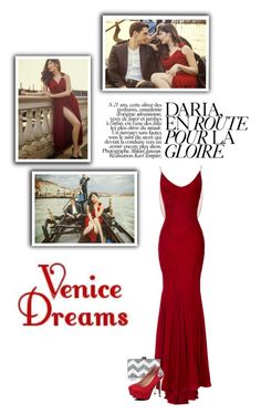 """romantic venice"" by brandygrr ❤ liked on Polyvore featuring Zac Posen and Edie Parker"