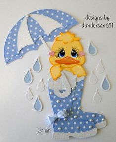 Duck-Rain-Spring-Kids-Paper-Piecing-PreMade-Border-Scrapbook-Album-danderson651 facebook - danderson651