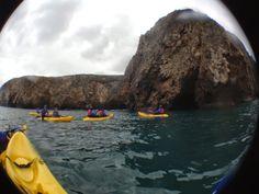 Island Adventures, kayaking the Santa Cruz sea caves.