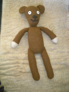 Mr Beans Teddy - 100% alpaca inside and out $75 plus postage www.thefibreofthegods.com 08 9574 5577