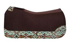 5 Star Equine Product's Virgin Wool Chocolate Brown Saddle Pad with Turquoise Laredo Custom Full Length Wear Leathers! Western Saddle Pads, Horse Saddle Pads, Western Horse Tack, Horse Gear, Horse Saddles, My Horse, Horse Riding, Western Saddles, Horse Tips
